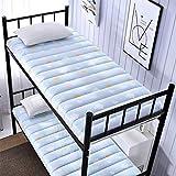 Futon Mattress Colchón Plegable del Dormitorio del Estudiante, colchón de Tatami Plegable Individual Cama de literas con Engrosamiento Transpirable,D,90 * 190cm/35 * 75inch