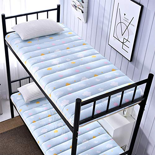 Futon Mattress Colchón Plegable del Dormitorio del Estudiante, colchón de Tatami Plegable Individual Cama de literas con Engrosamiento Transpirable,D,120 * 200cm/47 * 79inch