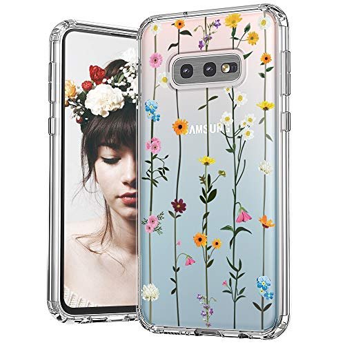 MOSNOVO Galaxy S10e Case, Wildflower Floral Flower Pattern Clear Design Printed Transparent Hard Back Case with TPU Bumper Protective Case Cover for Samsung Galaxy S10e