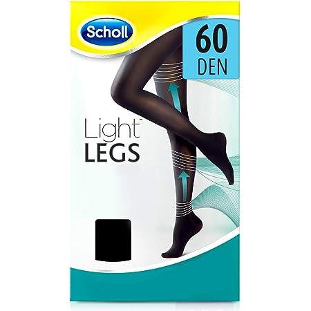 Scholl Light Legs Collant Donna Compressione Graduata 60 Den, M, Nero, 1 Paio