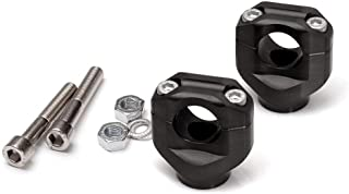 LSL Handlebar Clamps (Colour And Rise:+15mm, Black) To Suit Triumph Scrambler/Bonneville