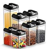 7pcs Tarro con Tapa de Almacenamiento Recipiente Hermetico Cocina Plastico Caja...