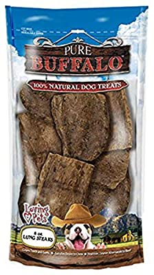 Loving Pets Lung Steaks Dog Chews, Pure Buffalo, 8 Ounce, 12 Pack