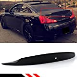 Cuztom Tuning Fits for 2008-2015 G37 Q60 2 Door Coupe High Kick Duckbill Rear Trunk Lid Spoiler Wing - Primer Finish