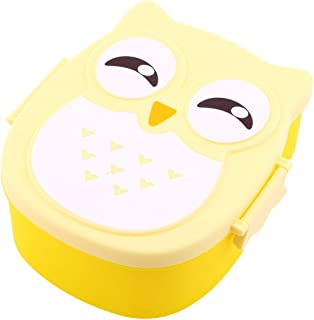 mymerlove 1050ML Owl Lunch Box Bento Food-Safe Plastic Food Picnic Container Portable Box