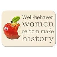 """行儀女性はめったに歴史を作るません 9"""" x 6"""" 私にtal 符号"""