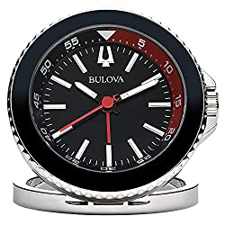 Bulova Diver Travel Clock, Silver