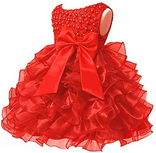 Jup'Elle Little Baby Girl Dress Kids Ruffles Party Wedding Birthday Flower Girl Dresses 12 Months