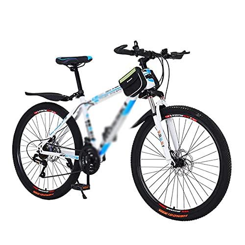 Bicicletas de montaña de 26 pulgadas 21/24/27 velocidades Horquilla de suspensión MTB Marco de acero al carbono de alta resistencia Bicicleta de montaña con freno de disco doble para hombres y mujeres