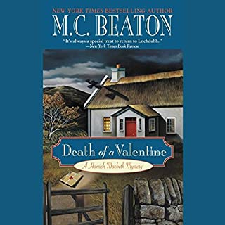 Death of a Valentine audiobook cover art