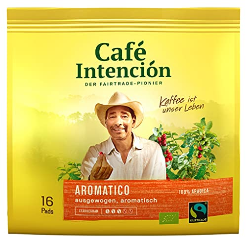 Kaffeepads AROMATICO von Café Intención, 6x16 Stück
