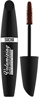 Mascara by Sacha Cosmetics, Lengthening & Volumizing Lash Extension Mascara, Waterproof & Washable Eye Makeup, 0.03 oz, Brown