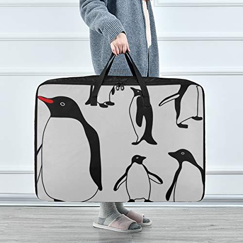 Organizador de Ropa para niños Cute Penguin Family Winter Animal Organizador de Ropa para niños para Armario 70 X 50 X 28 cm Edredón Colcha Almohada Equipaje Mover Totalizador de Ropa Armario de Alma