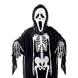 Frmarche - Conjunto de 3 piezas de Halloween con calavera esqueleto y esqueletismo para disfraces (niño)