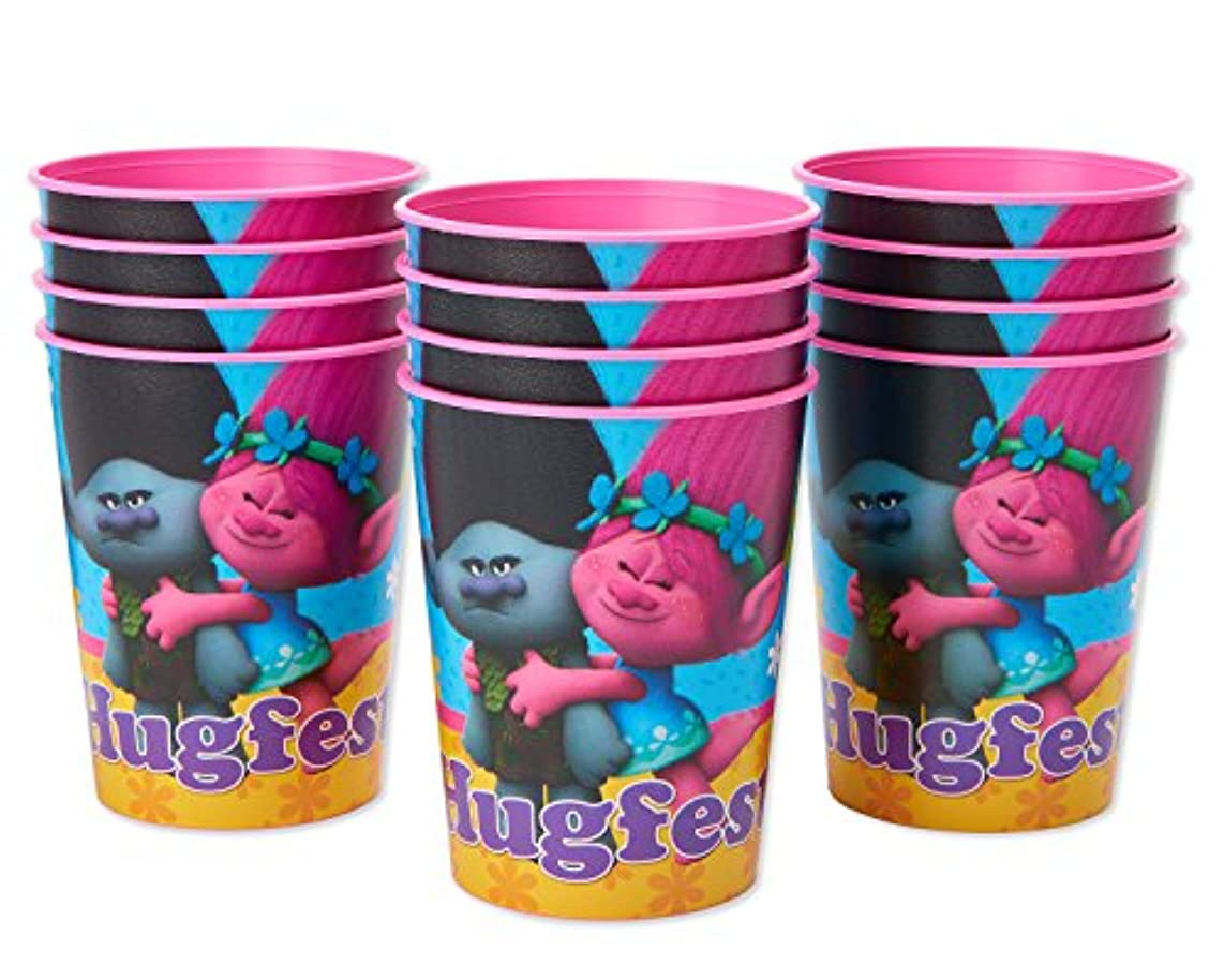 American Greetings Trolls 16oz. Plastic Party Cup, 12-Count