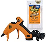 Gorilla Dual Temp Mini Hot Glue Gun Kit with 30 Hot Glue Sticks, (Pack of 1)