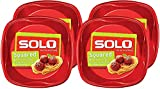 SOLO Cup Company Plastic Plates, Red Party 10in Plates, 120 Count
