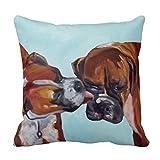 B Lyster Shop G390J Boxer Dogs Pet Portrait Pillowcase Home Decoration Pillow Covers 18 X 18