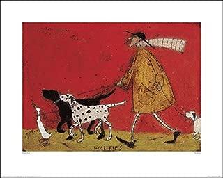 The Art Group Walkies Sam Toft Art Print, Paper, Multi-colour, 40 x 50 x 1.3cm