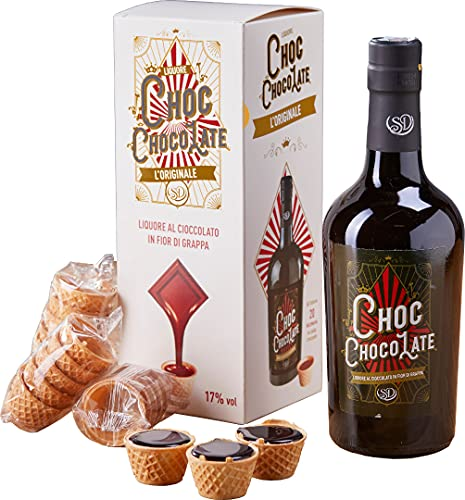 D&D Choc Chocolate Liquore al Cioccolato in astuccio con cialde - 500 ml