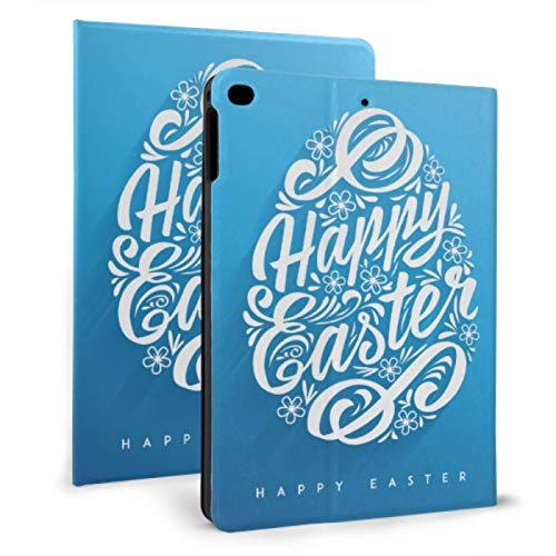 Ipad Case Covers Colorful Happy Easter Calligraphy Paint Ipad Case Shockproof For Ipad Mini 4/mini 5/2018 6th/2017 5th/air/air 2 With Auto Wake/sleep Magnetic Magnetic Ipad Cover
