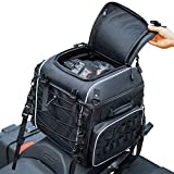 Motorcycle Travel Luggage, Motorcycle Tail Bag, Seat/Rack Bag for Softail Sportster Dyna Touring Models Road King Road Glide Street Glide Waterproof All Weather with Sissy Bar Straps Black