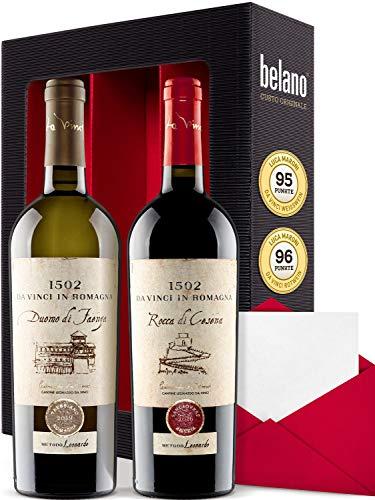 Luca Moroni Sangiovese und Trebbiano 2016 Trocken 2x 750ml - Weingeschenkset inkl. Geschenkkarte