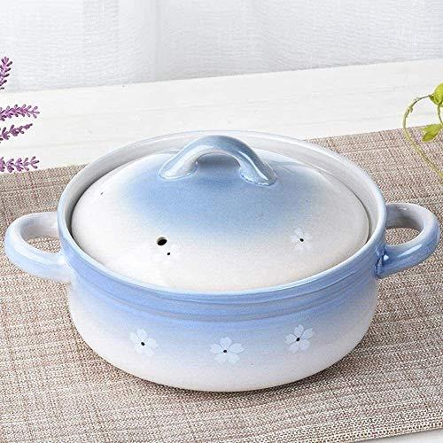 GCP Cazuela de Barro Cazuela de Barro Cazuela de cerámica - Conducción de Calor rápida, Conservación del Calor, Durable y no fácil de envejecer (Color: B, Tamaño: Capacidad 3L)
