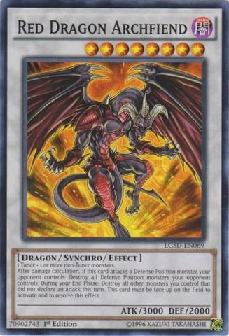 YU-GI-OH! - Red Dragon Archfiend (LC5D-EN069) - Legendary Collection 5D's Mega Pack - 1st Edition - Common by