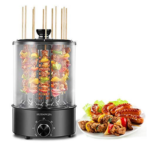 HUIDANGJIA Vertical Rotisserie Oven 1100W, Multi-Function Electric Grill Smokeless Shawarma Rotating Oven Barbecue Grill for Home Use Infrared Roaster Oven