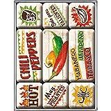 Nostalgic-Art Juego de Imanes Retro Chili Peppers – Idea de Regalo para la Cocina, Decoración...