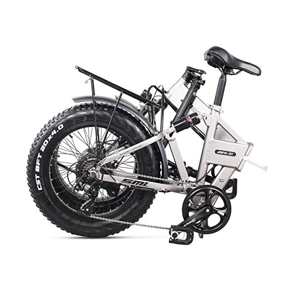512eFimbFzL - Shengmilo MX21 eBike Elektrofahrrad 20 Zoll e-Bike Mountainbike Klappbar Electric Fahrrad ebike Herren Damen 4.0 Fetter Reifen 500W bürstenlosem Moto 48V Lithium Batterie