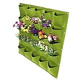 XingYue Direct 72 Bolsillos de la Pared de la Flor Vertical Colgando Fieltro Bolsas de Jardinera para jardín Interior Exterior 2 Colores (Color : Green)