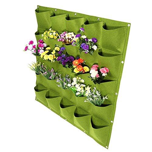 XingYue Direct Sacs de jardinière Suspendus en Feutre Suspendus pour 72 Fleurs murales Verticales pour Jardin intérieur extérieur 2 Couleurs (Color : Green)