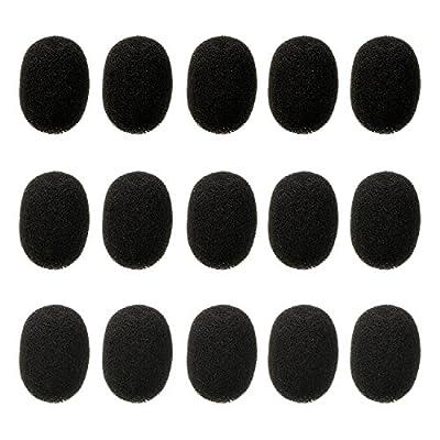 Lapel Headset Microphone Windscreens, Foam Microphone Covers, Mini Size, 15 Pack