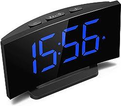 Digital Alarm Clock, LED Display Clock for Bedside with Snooze Function, Brightness Dimmer Control, 5'' Large Display,Elec...