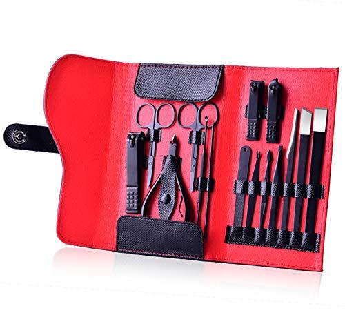 PhantomSky[Luxus-Serie] 15 Stück Edelstahl Maniküre Pediküre Set Nagelknipser Cleaner Nagelhaut Pflege Kit - Perfekte Nagelschere Werkzeug-Set für den Profi und Täglichen Gebrauch