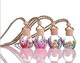 Huakaimaoyi Deodoranti Personalizzati per Auto Appesi Deodorante per Auto Bottiglia di Profumo Ricaricabile Specchio per Auto Accessori per Appendere 10 Pezzi-Multicolore