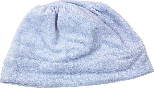 【UCHINO×岩手ホスピスの会】 タオルキャップ 極薄やわらか ふんわり 洗濯機可 頭囲65cm ブルー RK23115M B