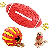 Squeaky Dog Chew Toys Interactive Dog Toys for Aggressive Chewers Large Breed Dog Puzzle Toy Dog Teeth Cleaning Natural Rubber