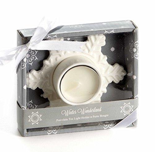 Artisano Designs A94041 Winter Wonderland Porcelain Tea Light Candle Holder