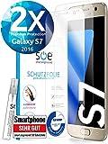 [2 Stück] 3D Schutzfolien kompatibel mit Samsung Galaxy S7 - [Made in Germany - TÜV] – HD Displayschutz-Folie - Hüllenfreundlich – Transparent – kein Schutz-Glas sondern Panzer-Folie TPU