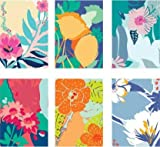 Doodle Bloom Soft - Set of 12 Thank You Notecards (3 Inch x 4.25 Inch) Greeting Cards