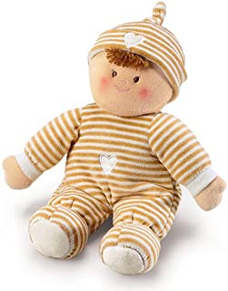 Russ Berrie Beige Pancake Doll with Rattle 12