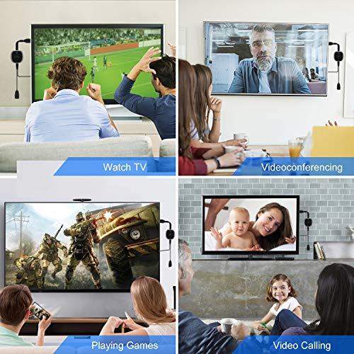 TedGem Wireless HDMI Display Dongle, WiFi Streaming Dongle, 4K Wireless WiFi Display Dongle HDMI, für Android/Windows/Monitor/Projektor, Unterstützt Miracast/DLAN/Airplay