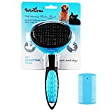 PETNURSE Self-Cleaning Pet Slicker Brushes for Dogs and Cats,Suitable for All Hair Types-Curly,Wiry,Thick,Short,Medium & Long (Large size)