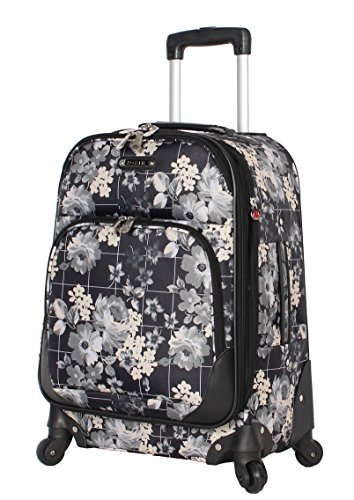 Rosetti Luggage Expandable Softside Carry On 20' Suitcase with Spinner Wheels (20in, Petal Works)