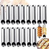 16 PCS Cannoli Tubes,Cream Horn Mold,Stainless Steel Cannoli Forms Cream Roll for Baking,Cake,Pastry,Croissant Shell