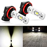 JDM ASTAR Extremely Bright High Power H11 H8 H16 LED Fog Light Bulbs, Xenon White