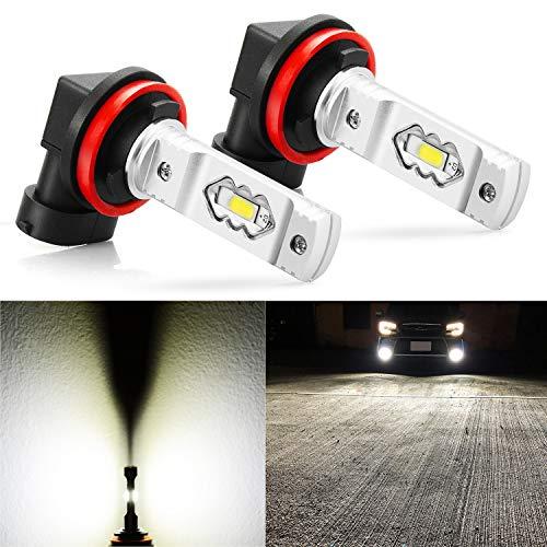 JDM ASTAR Extremely Bright High Power H11 H16 LED Fog Light Bulbs, Xenon White
